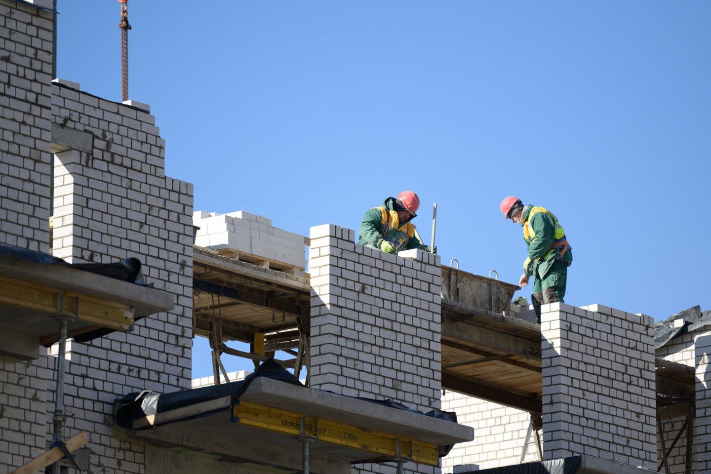 Nors statybininkų paklausa užsienio rinkoje didelė, lietuviai į svečias šalis vykti nenori, nes, pašnekovės teigimu, gerai užsidirba ir Lietuvoje.<br>V.Skaraičio nuotr.