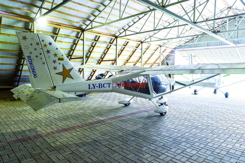 Kai K.Masilionis įsigijo piloto licenciją, tuo metu jam buvo 71-eri.<br>V.Ščiavinsko nuotr.