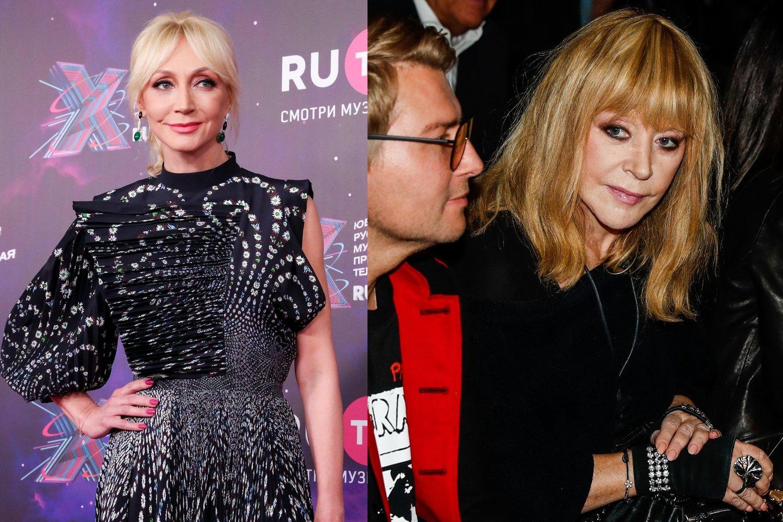 K.Orbakaitė ir A.Pugačiova.<br>LR Koliažas.