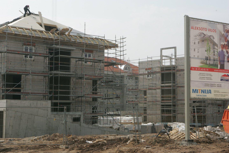 Būsto kainų augimas prasilenkia su gyventojų pajamų augimu.<br>A.Barzdžiaus nuotr.