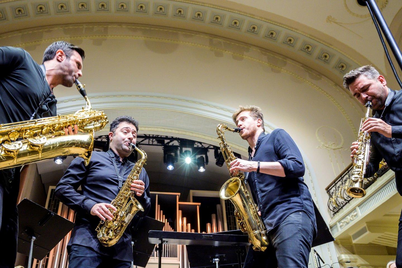 """Vokietijos saksofonų kvartetas """"Signum"""".<br>D.Matvejevo nuotr."""
