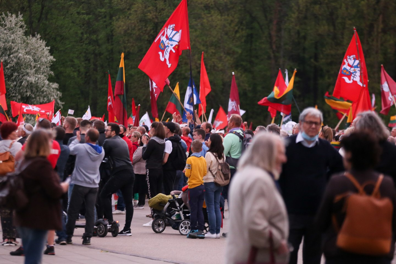 Didysis šeimos gynimo maršas.<br>T.Bauro nuotr.