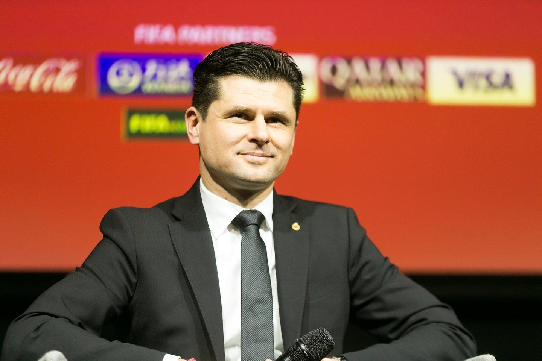 LFF prezidentas T.Danilevičius.<br>T.Bauro nuotr.