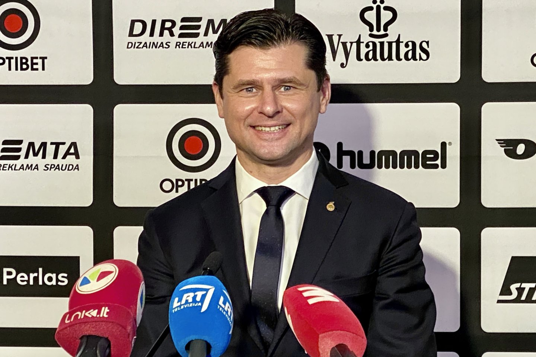 LFF prezidentas T.Danilevičius.<br>V.Ščiavinsko nuotr.