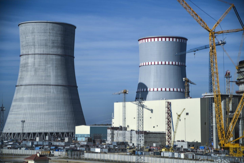 Baltarusija pradėjo Astravo AE pirmojo reaktoriaus pramoninį naudojimą.<br>V.Ščiavinsko nuotr.