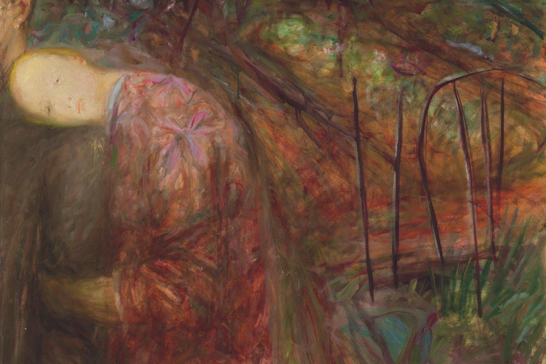 """Tapytojos Nomedos Saukienės paveikslas """"Iš kiemo pusės"""". 1968 m. LNDM.<br>LNDM nuotr."""