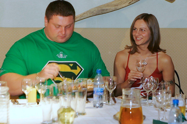 Ž.Savickas su Jurgita Vorobjovaite.<br>V.Ščiavinsko nuotr.