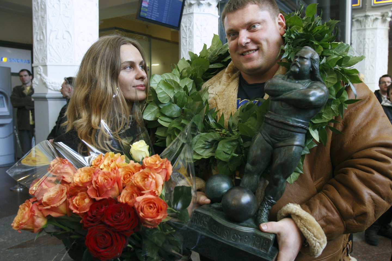 Ž.Savickas su Jurgita Vorobjovaite.<br>M.Kulbio nuotr.