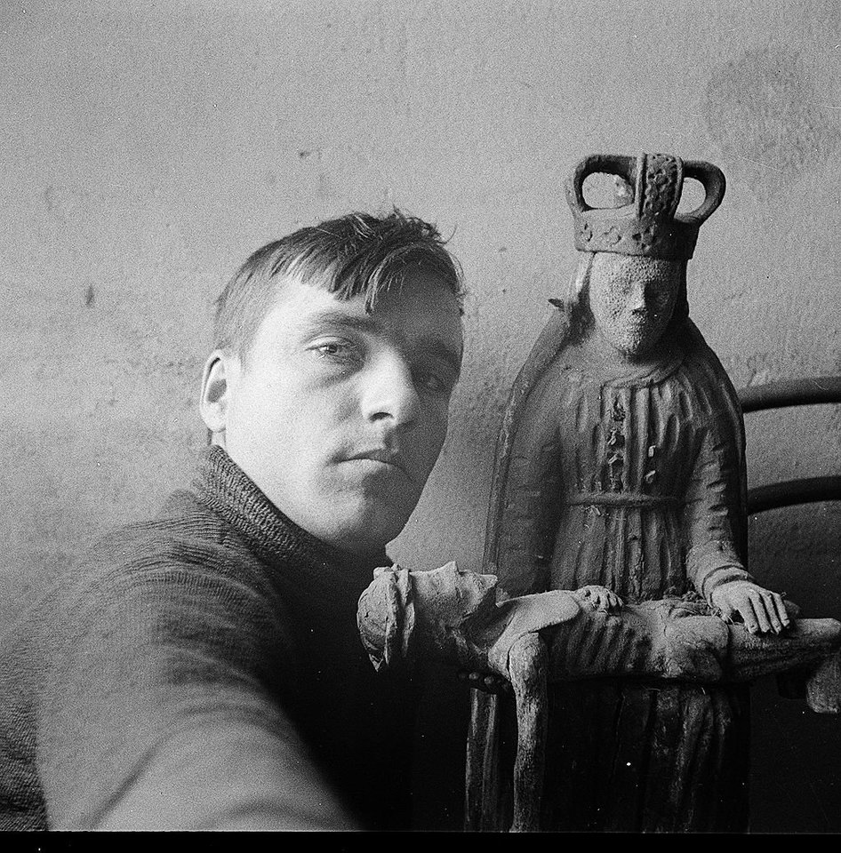 """Vytautas Jurkūnas. """"Autoportretas prie pietos"""". 1937–1939 m.<br>Organizatorių nuotr."""