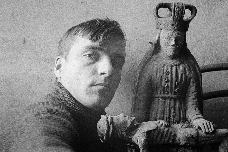 """Vytautas Jurkūnas. """"Autoportretas prie pietos"""". 1937–1939 m. (Fragmentas).<br>Organizatorių nuotr."""