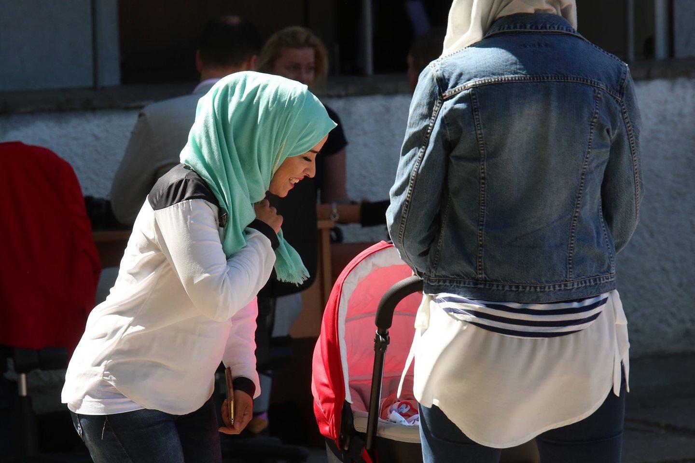 Ruklos pabėgėlių priėmimo centras, pabėgėliai<br>M.Patašiaus asociatyvi nuotr.