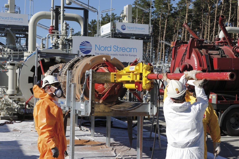 Rusijos kaimynės Ukraina, Lenkija ir Baltijos šalys aktyviai priešinasi dujotiekiui, kurio 95 proc. jau baigta tiesti.<br>www.nord-stream.com nuotr.