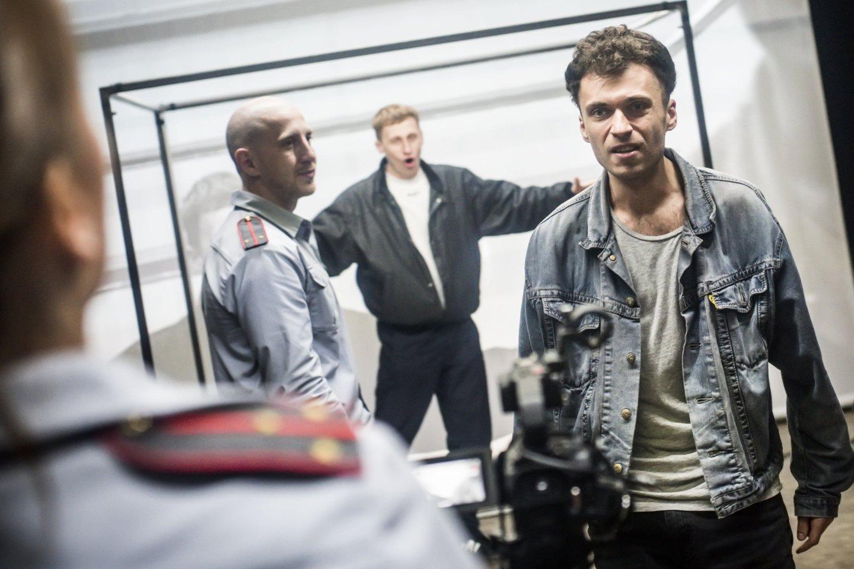 "Scena iš spektaklio ""Žmogus iš Podolsko"".<br>D.Matvejevo nuotr."