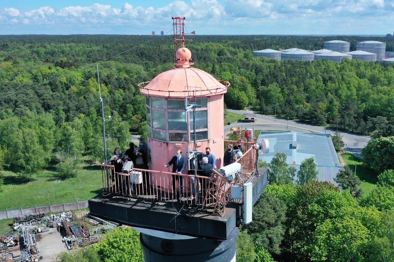 Nuo bokšto atsiveria uosto panoramos.<br>Klaipėdos savivaldybės nuotr.