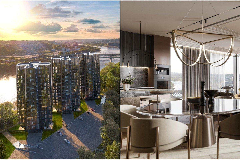 """Nors statybų darbai dar tik įgauna pagreitį, pirmajame etape jau parduota bei rezervuota 90,8 proc. apartamentų.<br>""""G. Natkevičius ir partneriai"""" vizual."""
