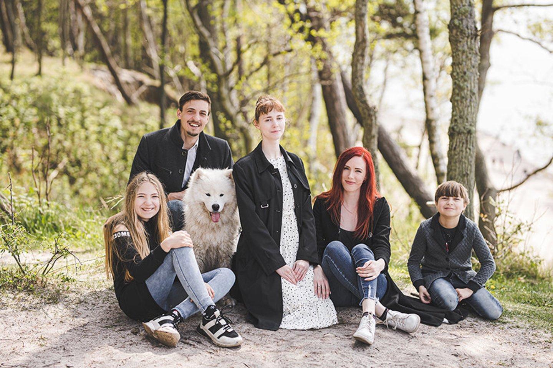 Šeima mėgsta leisti laisvalaikį drauge.<br>Fotoplunksna nuotr.