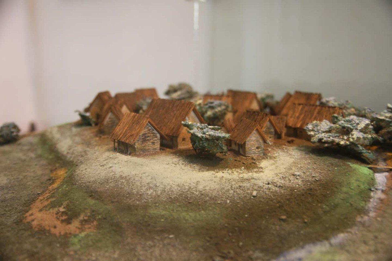 Tripolės namai iš pinučių ir molio būdavo reguliariai sudeginami.<br>C. Chirita nuotr.