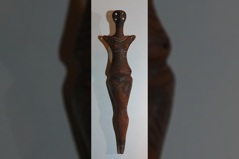 Antropomorfinė Kukutenio-Tripolės kultūros skulptūrėlė.<br>Wikimedia commons