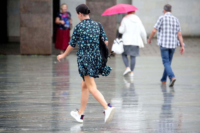 Savaitgalis pasitiks su lietumi ir perkūnija<br>M.Patašiaus nuotr.