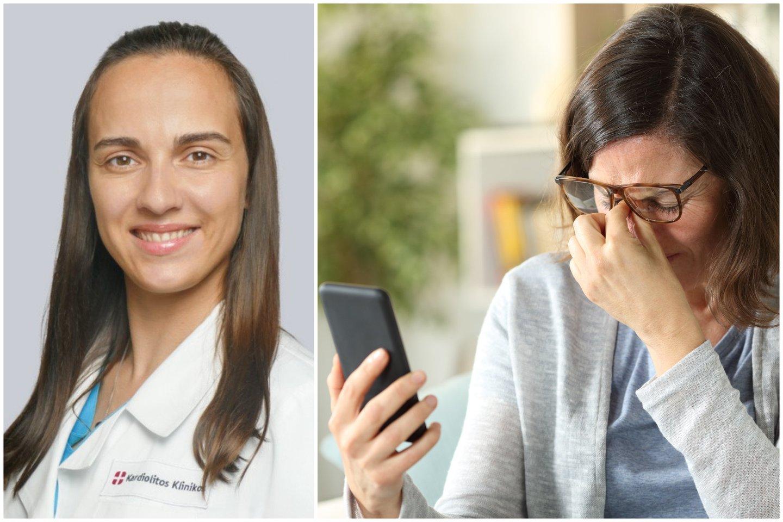 Išsausėjusios, skaudančios, ašarojančios akys, suprastėjęs regėjimas – tai tik dalis simptomų, kuriuos pastaruoju metu vis dažniau Lietuvos gyventojai išsako specialistams.<br>123rf ir lrytas.lt nuotr. koliažas