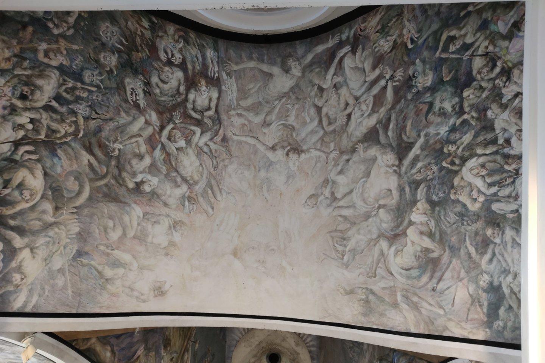 Freska Rainių Kančios koplyčioje.