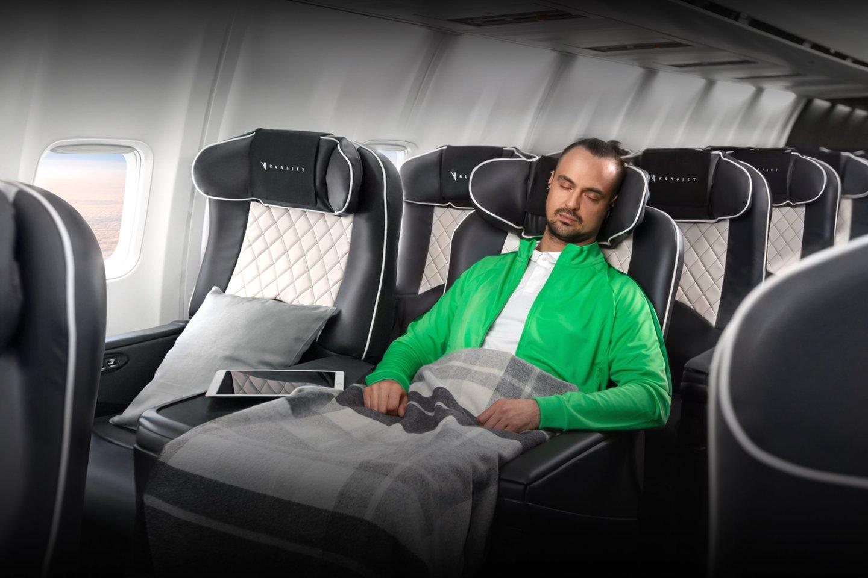 """""""KlasJet"""" suteikiamas komfortas leidžia neišsimušti iš savo ritmo – miego, poilsio ir mitybos.<br>""""KlasJet"""" nuotr."""