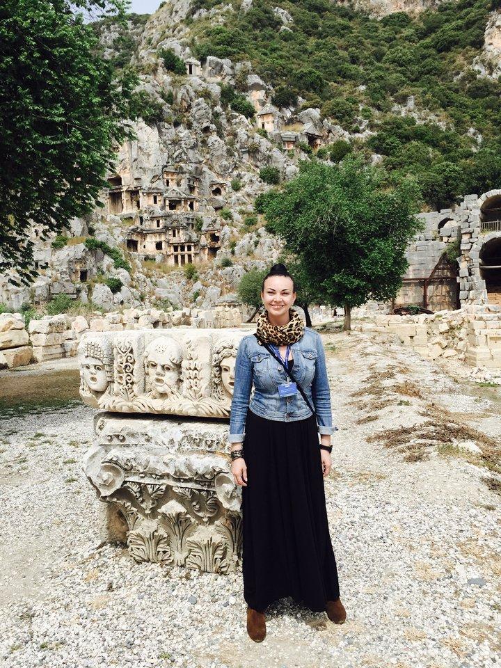 """Tarptautinio kelionių organizatoriaus """"Tez Tour"""" atstovė Turkijoje Kristina Jankauskienė."""