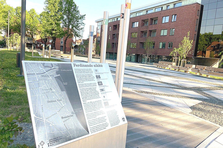 Uostamiestyje atnaujinta dar viena viešoji erdvė – Ferdinando aikštė.