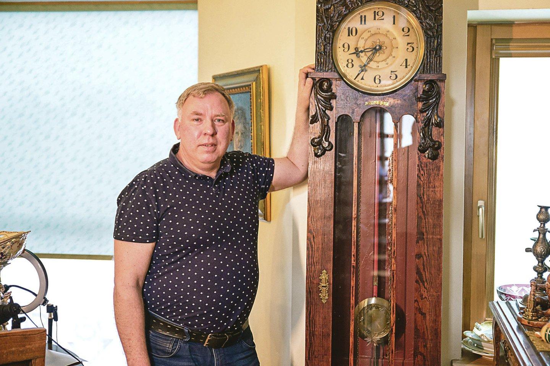 Antikvaro A.Arbačiausko kolekcijoje – ir Kauno burmistro J.Vileišio laikrodis.