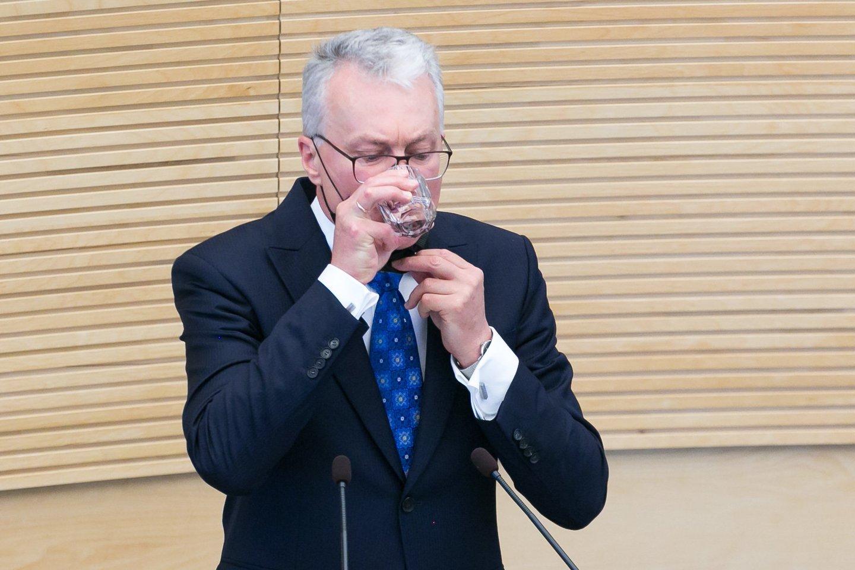 Prezidento G.Nausėdos komanda smarkiai susikirto su konservatorių lyderio G.Landsbergio vadovaujamos Užsienio reikalų ministerijos valdininkais.<br>T.Bauro nuotr.