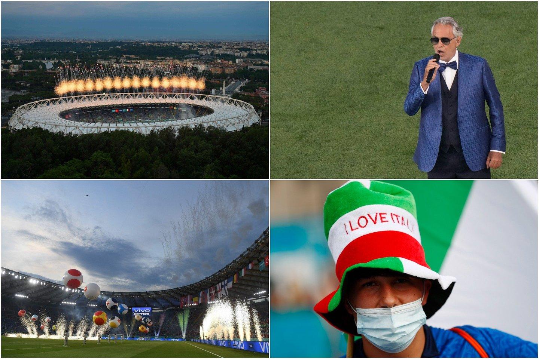 Romos stadiono spalvos.<br>lrytas.lt koliažas.