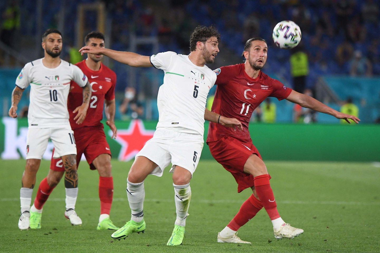 Italijos ir Turkijos rinktinių rungtynės.<br>AFP/Scanpix nuotr.
