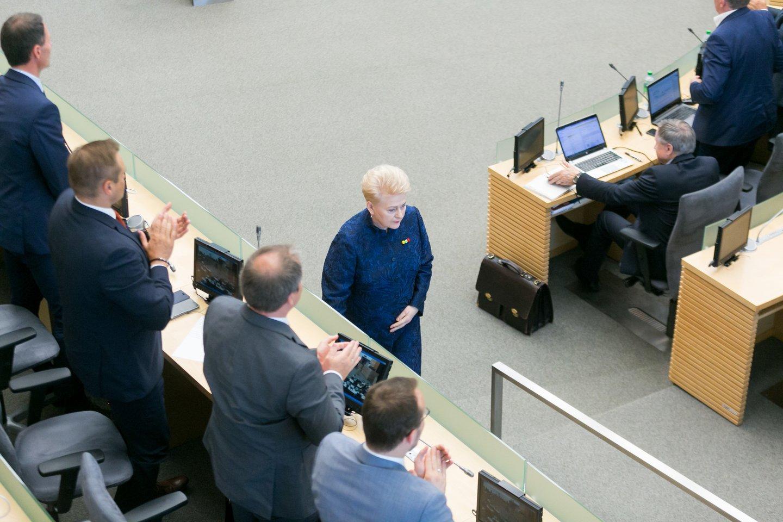 D.Grybauskaitės metinis pranešimas.<br>T.Bauro nuotr.