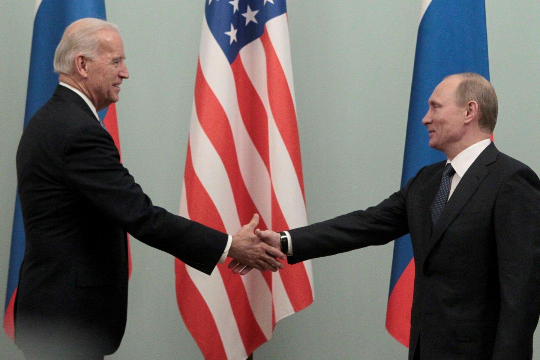 JAV prezidento Joe Bideno ir Rusijos vadovo Vladimiro Putino susitikimas vyks birželio 16 d.<br>Reuters/Scanpix nuotr.