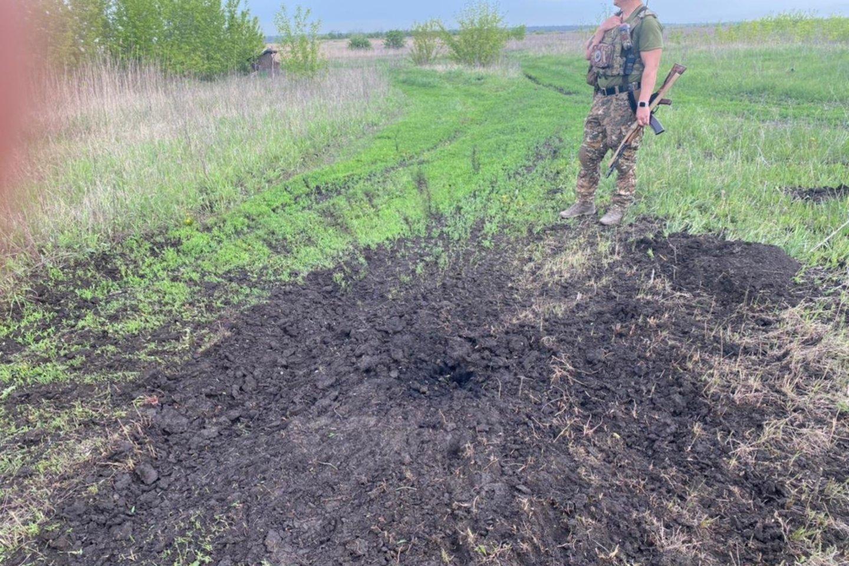 Ukrainiečių pozicijos šalia Donecko oro uosto.<br>Karių nuotr.