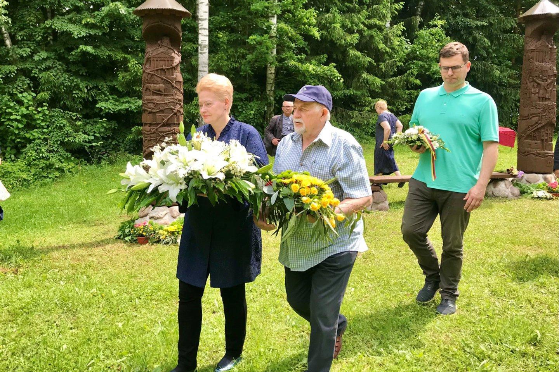 Prezidentė Dalia Grybauskaitė dalyvauja lapteviečių brolijos susitikime.<br>Naujienų agentūros ELTA nuotr.
