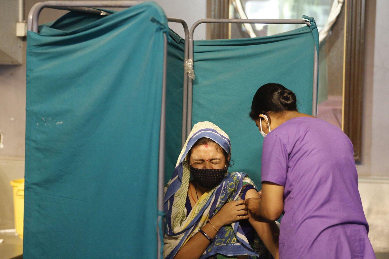 Koronavirusas Indijoje.<br>AP/Scanpix nuotr.