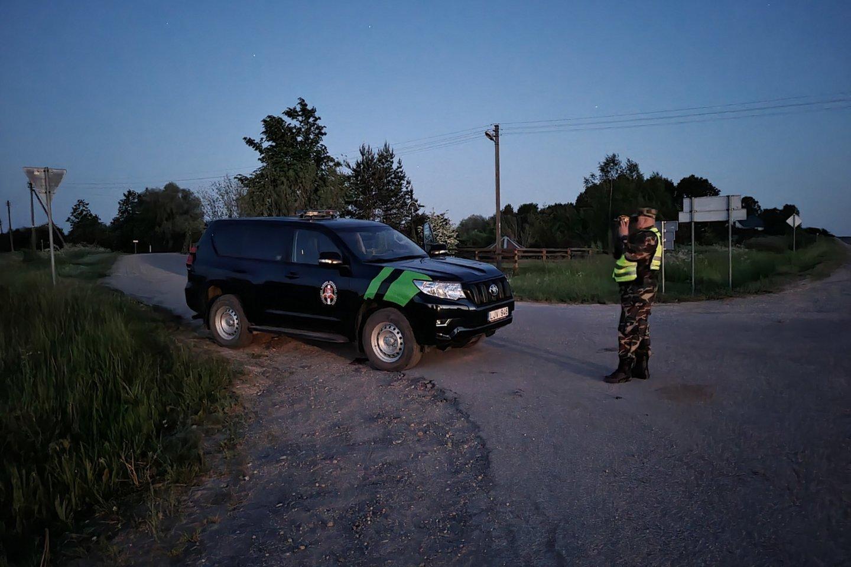 Pasieniečiai sulaikė 58 nelegalius migrantus, mėginusius patekti į Lietuvą iš Baltarusijos.<br>A.Vaitkevičiaus nuotr.
