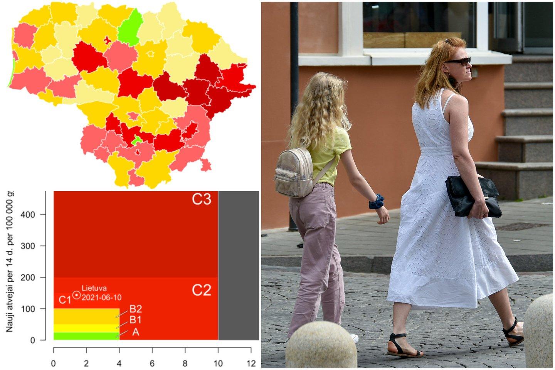 Sergamumas koronavirusu Lietuvoje slopsta.<br>lrytas.lt koliažas