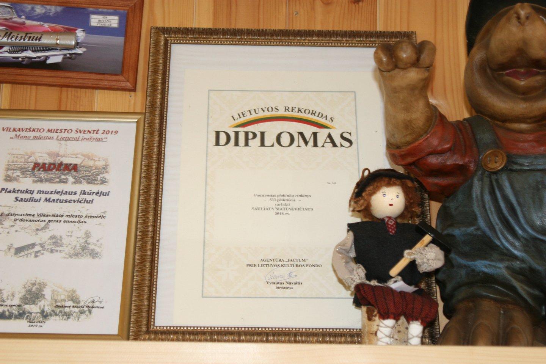 Diplomas.<br>L.Juodzevičienės nuotr.
