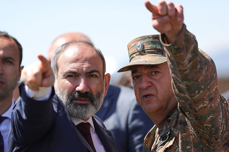 Armėnijos premjeras Nikolas Pašinianas.<br>AFP/Scanpix nuotr.