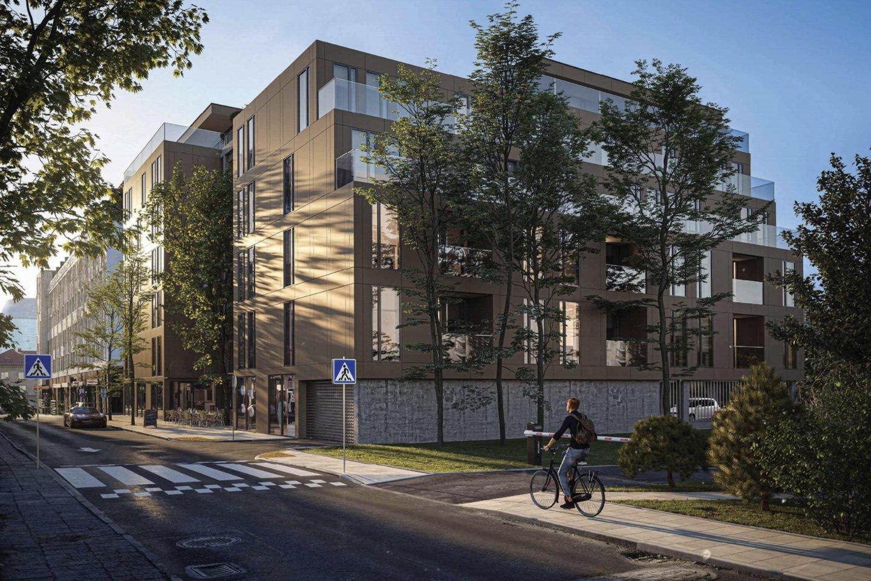 Žvėryne, Liepyno gatvėje, planuojamas keturių korpusų pastatas su administracinėmis, komercinėmis ir gyvenamosiomis patalpomis.<br>Vizual.