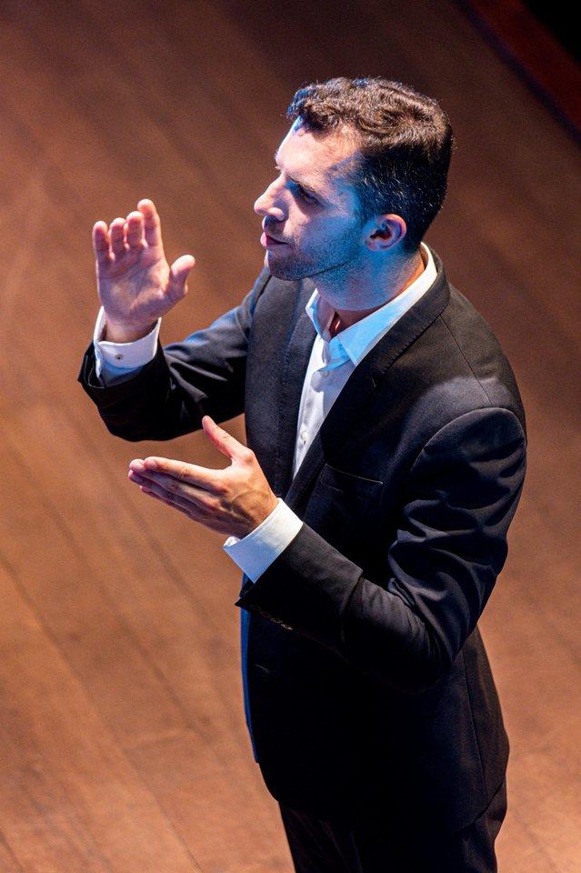 G.Gelgotas – kompozitorius, dirigentas, NIKO įkūrėjas ir vadovas.<br>D.Matvejevo nuotr.