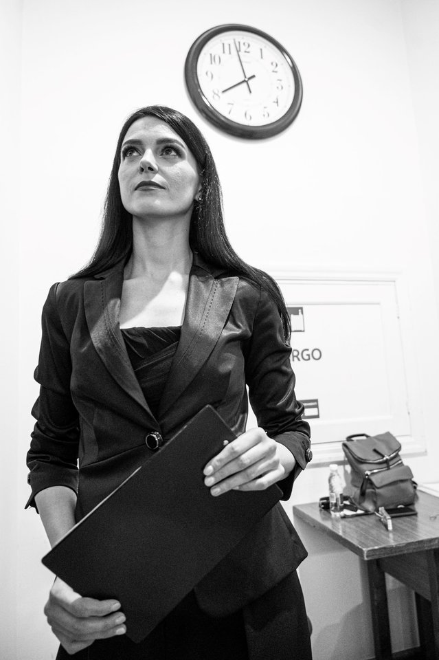 G.Griniūtė – koncerto vedėja.<br>D.Matvejevo nuotr.