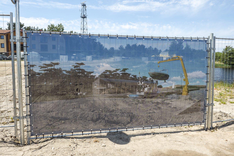 Rekonstruojamas Šventosios uostas.<br>V.Ščiavinsko nuotr.
