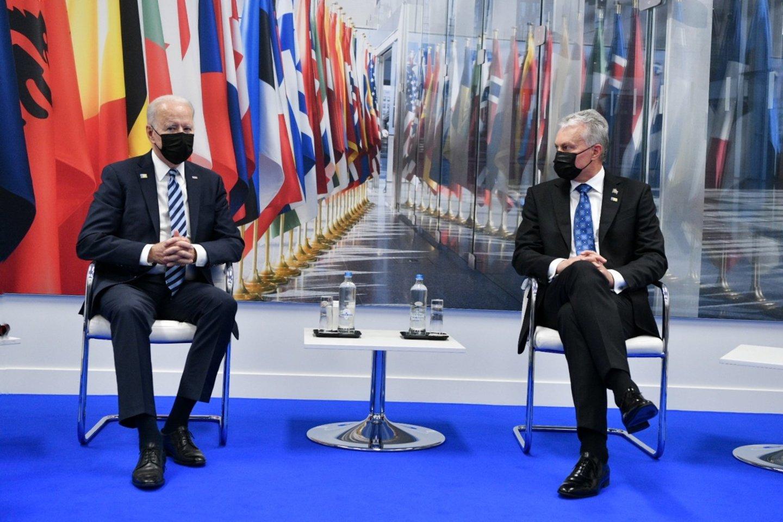 G. Nausėda susitiko su J. Bidenu: turėjo vieną prašymą.<br>Prezidentūros kanceliarijos nuotr.