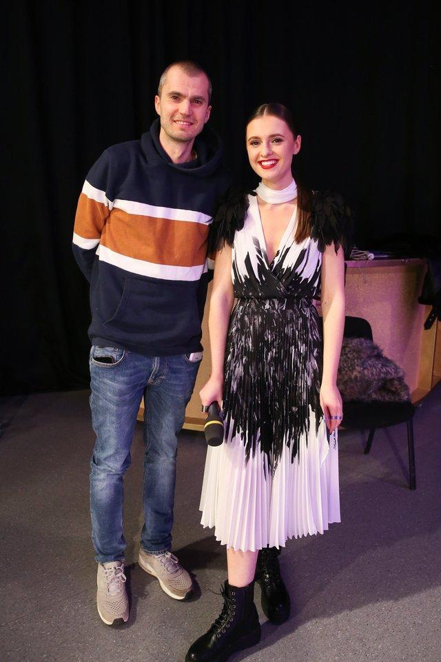 Ieva Zasimauskaitė su buvusiu vyru Mariumi<br>R.Danisevičiaus nuotr.