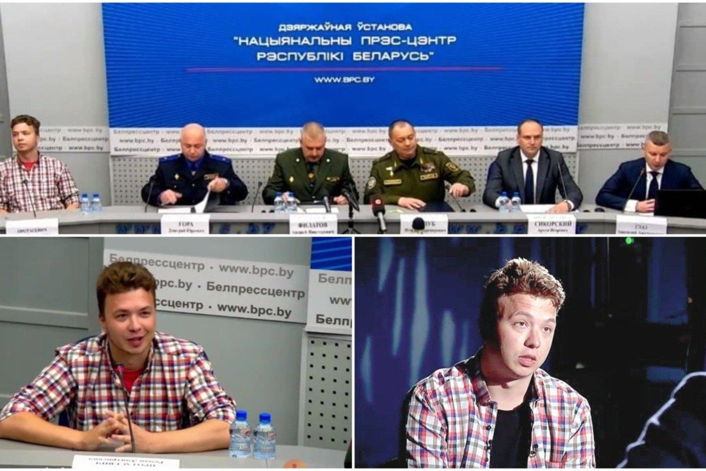 Pasak Baltarusijos URM atstovo, pats R. Pratasevičiuus pareiškė norą dalyvauti.<br>Lrytas.lt koliažas.