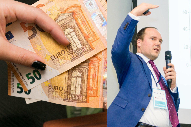 Estijos biudžeto deficitas 2020 m. buvo gerokai mažesnis nei Lietuvos.<br>Lrytas.lt montažas.