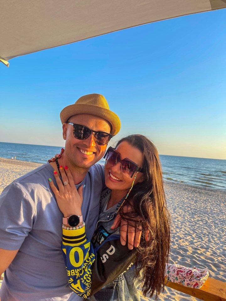 A.Radzevičius su žmona.<br>Pr. siuntėjų nuotr.